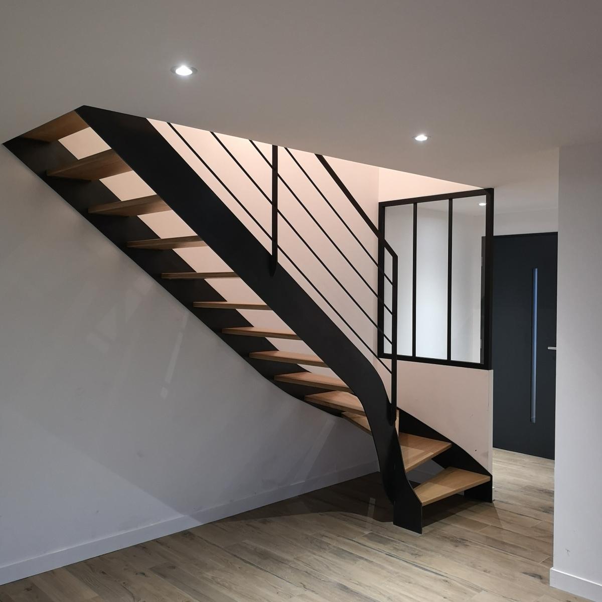 Escalier Bois Metal Noir escaliers | sd metal