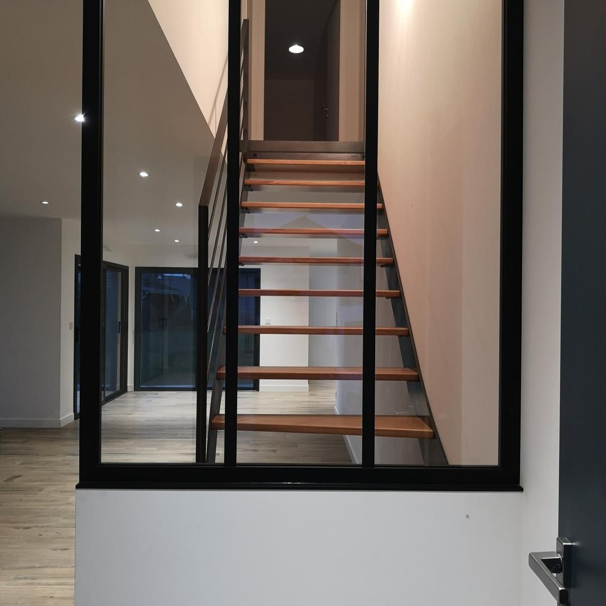 Escalier Bois Entre Deux Murs escaliers | sd metal